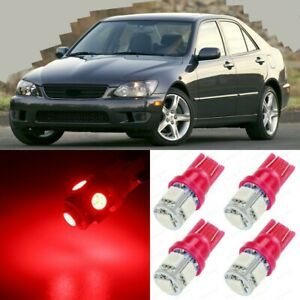 12 x Ultra Red Interior LED Lights Package For 2001 - 2005 Lexus IS300 +TOOL