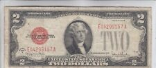 $2 1928 Two Dollar USA Legal Tender Note Red Seal Bill Old Currency Money Deuce