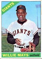 Willie Mays Unsigned 1966 Topps Card