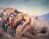 Apache Ambush Frederic Remington Fine Art Print Canvas Repro Giclee Small 8x10