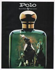 PUBLICITÉ DE PRESSE / ADVERTISING - RALPH LAUREN - PARFUM POLO - 1988