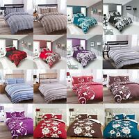 Duvet Cover Quilt Bedding Bed And Pillowcases Set Single Double King Modern