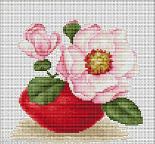 Luca-s B107 Flower Magnolia Embroidery Kit Counted