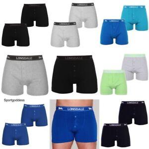 Mens Lonsdale 2 Pack Trunk Short Boxer Underwear