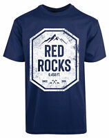 Red Rocks New Mens Shirt Stylish Coolest Amazing Authentic Short Sleeves Top Tee