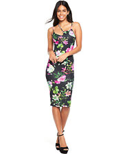 V by Very Floral Bodycon Dress in Print Size 8
