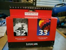 Lexmark Printer Ink Cartridges Combo Pack Black 32, Color 33 Brand New