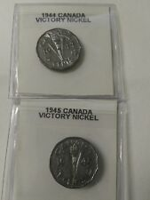1944 1945 CANADA 5 CENTS NICKEL- Chromium WW2 Victory Coin