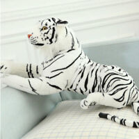 White Tiger Plush Animal Realistic Big White Tiger Hairy Soft Stuffed Toy Pillow