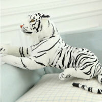 24'' Tiger Plush Animal Realistic Big White Tiger Hairy Soft Stuffed Toy Pillow