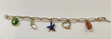 Tiffany & Co 925 Sterling Silver Five Charm Peretti Bracelet