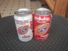 Coke and Diet Coke cans. Super bowl 26 (1992). Bottom opened. FREE SHIPPING