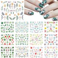Nagel Wasser Aufkleber Blume Blätter Transfer Nail Stickers Nail Art Wraps DIY