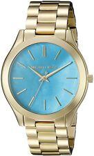 Michael Kors Women's MK3492 Slim Runway Wrist Watches Blue Dial