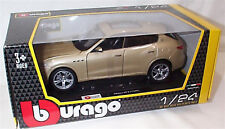 Maserati Levante in gold 1-24 Scale burago 21081 New in box