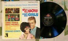 When The Boys Meet The Girls OST LP Connie Francis Sam The Sham 1965 VG+/M-