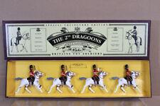 BRITAINS 8850 The 2nd DRAGOONS ROYAL SCOTS GREYS MOUNTED SET MINT BOXED nz