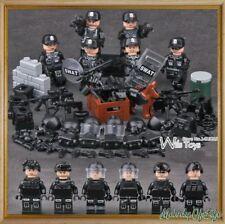WWII SWAT Soldiers Gun SWAT Army Military Gun War Buidling Blocks Bricks Figure