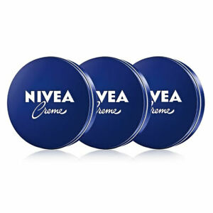 [NIVEA] Eucerit Daily Basic Creme Tin Dermatologist Tested 3x60ml