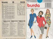 out-of-print:  burda 3928, Kostüm, Kleid, pattern, Gr. 34 - 40, sizes 8 - 14
