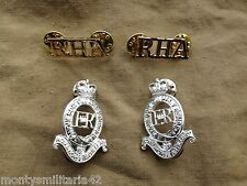 Original Genuine Issue British Army Royal Horse Artillery RHA Insignia Set