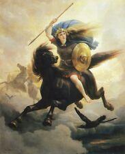 La mitología Nórdica Vikingo valquirias 1869 Peter ARBO caballos de vuelo 10x8 pulgadas impresión