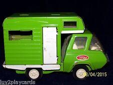 Vintage 70's  Pressed Steel Green Tonka Camper RV Truck Motorhome Mobile Home