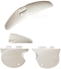 YAMAHA TT500 1976 CLEAN WHITE COMPLETE FENDER & SIDE COVER SET 19-016