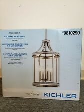 Kichler Angelica Polished Nickel Clear Cylinder Pendant Light (OPEN BOX)