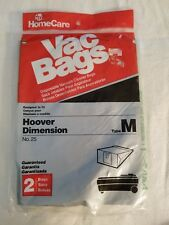 New Homecare 2 Vac Bags Type M Free Shipping