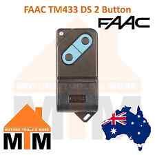 1 x FAAC TM433 DS 2 Channel Genuine Original Remote Dip Switch Remote