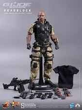 "HOT TOYS GI JOE RETALIATION ROADBLOCK DWAYNE JOHNSON THE ROCK 1/6 12"" MMS199 NEW"