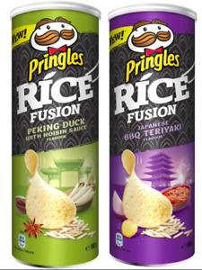 Pringles Rice Fusion Peking Duck & BBQ Teriyaki Crisps 8 x 160g BB 24/12/2021