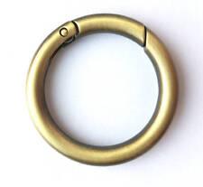 Karabiner rund Ringhaken Taschenring 26mm innen Altmessing Vintage-Design