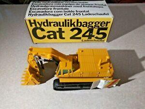 NZG Hydraulikbagger Cat 245 Ladeschaufel No. 177 New In Its Box 1/50th Scale