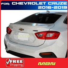For Chevy Cruze 16 19 4dr Sedan Primer Unpainted Rear Trunk Flush Mount Spoiler Fits Cruze