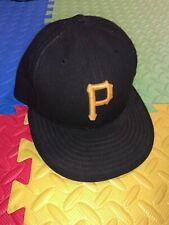 Pittsburgh Pirates New Era 59FIFTY Black MLB Baseball Hat Cap Fitted 7 1/4