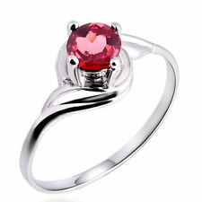 Silver Plated Ruby Fashion Rings