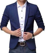 Men's Slim Fit Party Wear Royal Blue Blazer With Pocket Square+Hanger+Cover