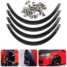 Black Universal Car Body Fender Flares Flexible Durable Polyurethane Kit