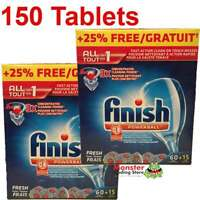 150 X ALL IN 1 FINISH POWERBALL DISH WASHING TABLETS FOR DISHWASHER