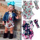 Newborn Infant Baby Girls Kids Bodysuit Romper Jumpsuit Outfits Sunsuit Clothes