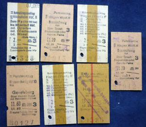 Zugfahrscheine, altes Fahrkarten Konvolut                             (Art.4132)