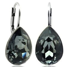 Ohrringe mit kristallen Von Swarovski schwarz Silber NOBEL schmuck