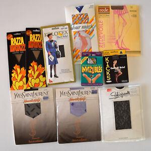 Vintage Pantyhose Stockings Lot x 10 Yves Saint Laurent Rede Razza Matazz Tall