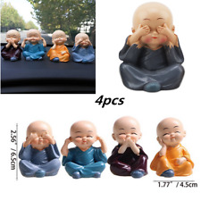 Home Office Car Decoration Four Little Monk Cute Doll Car Interior Accessories
