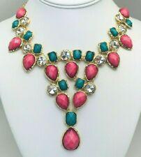 Green Crystal Cabochon Statement Necklace Bangle Bangle by Amrita Singh Pink