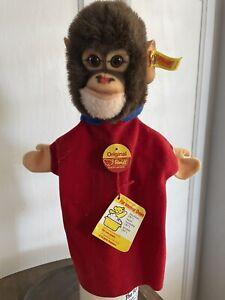 Steiff vintage monkey hand puppet