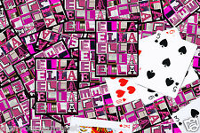 Personalized Playing Cards featuring ELLA in PINK letters from photos of signs