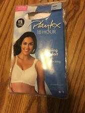 NEW Playtex 18 Hour Bra 4088 Cooling Comfort With Breathable Lining 44D White